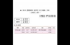 2019 대구 생활체육 동호인리그전 10월계획 (그라운…